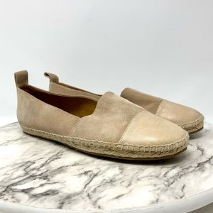 & Other Stories Elice pink Espadrille cap toe flat